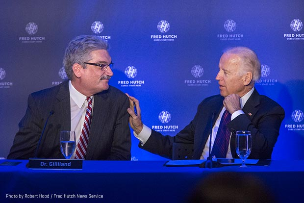 Dr. Gary Gilliland and Vice President Joe Biden