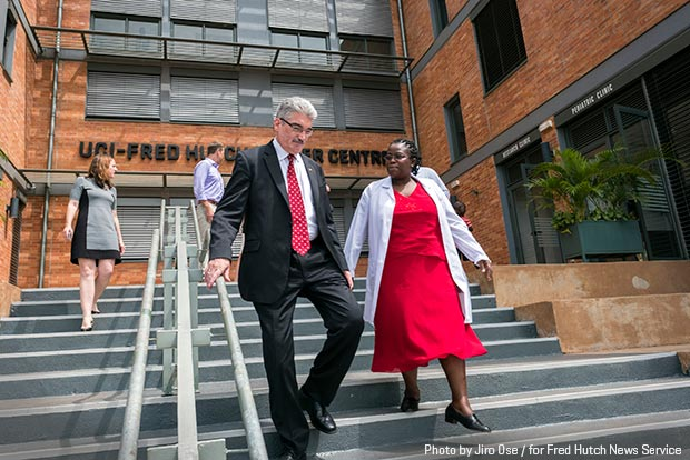 Fred Hutchinson Cancer Research Center President and Director Dr. Gary Gilliland at UCI-Fred Hutch Cancer Institute in Kampala