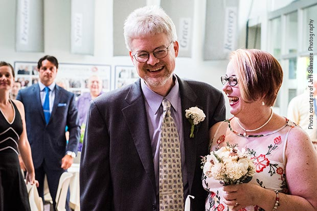 Susan, a stage 4 breast cancer patient, and her new husband, Jeff