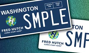 Fred Hutch vanity plates coming soon!