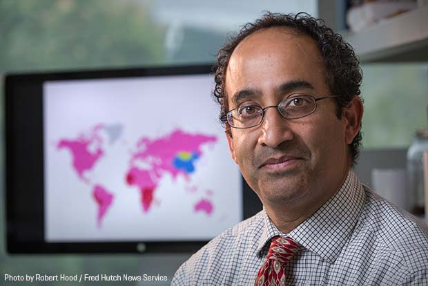 photo of Global Oncology researcher and oncologist Dr. Manoj Menon