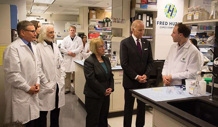 Vice President Joe Biden visits Fred Hutch as part of the Cancer Moonshot initiative