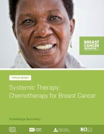 Treatment: Systemic Therapy: Chemotherapy for Breast Cancer