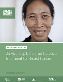 Survivorship Care after Curative Treatment for Breast Cancer