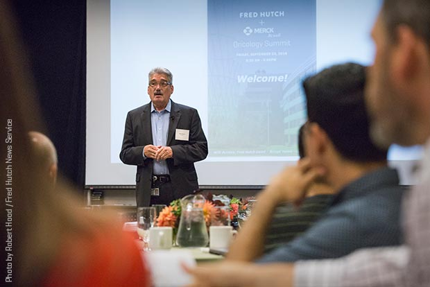 Dr. Gary Gilliland speaks at inaugural 'Oncology Summit'