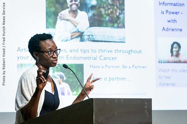 Dr. Kemi Doll presenting at Fred Hutch's annual Value in Cancer Care Summit