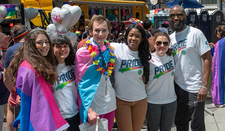 Staffers represent Fred Hutch at the Seattle Pride Parade